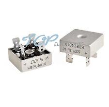 2pcs 50A 1000V Metal Case Single Phases Diode Bridge Rectifier KBPC5010