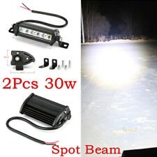 Pair 4inch 30W Single Row LED Light Bar 3LED 6500K Car Truck ATV 4WD Work Bulb