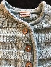 3 Pommes (Vintage?)Aqua Knit Cardigan Sweater - Newborn-3Months