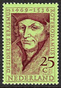 Netherlands 478, MNH. Desiderius Erasmus, 1469-1536, Scholar, 1969