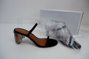 Kurt Geiger NEW Black Shoes BNIB  39 Uk 6 Rrp £119 Petra Rainbow Suede Leather