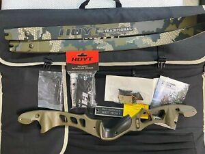 """Hoyt Satori 21"""" RH Wilderness Riser with Medium Verde Limbs Choice of weight"""
