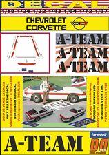 "DECAL ""A – TEAM"" CHEVROLET CORVETTE 1984 (06)"