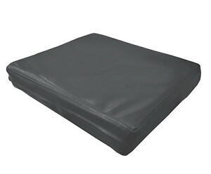 pe248t Grey Faux Leather Classic Pattern 3D Box Seat Cushion Cover Custom Size