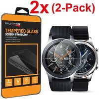 2X MagicShieldz® Tempered Glass Screen Protector for Samsung Galaxy Watch (42mm)