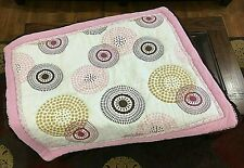 CoCaLo Iris Pattern (Retired) Multi-Use Cotton Crib Quilt Brown Pinks Goldenrod