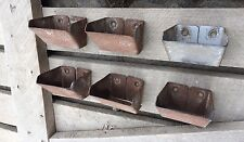 2 Galvanized Buckets Small Metal Primitive Organizing Wall Decor Farm Shelf Wood