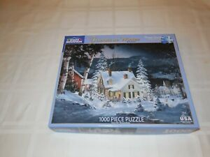 White Mountain 1000 piece puzzle. Friends in Winter by Fred Swan. 24x30 inch