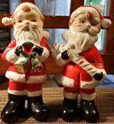 Vintage Japan Hand Painted Ceramic Santa Claus Salt & Pepper Shakers.