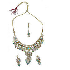 0cb6ac1798c5 Set Bollywood Nargis multicolor con brazaletes bindis joyas India moda sari