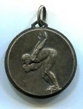 """médaille ancienne argent plaqué . sport """" La Natation """""""