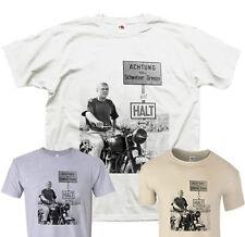 Steve McQueen T Shirt Great Escape Film TShirt T-shirt 24 Hours Le Mans S-XXL
