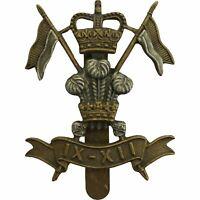 Queens Crown 9th / 12th Royal Lancers Regiment Cap Badge IX / XII - BW71
