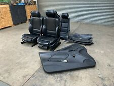 BMW E46 M3 Convertible Cabrio Black Electric Heated Napa Leather Seats Interior