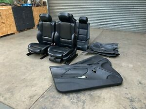 BMW E46 M3 Convertible Cabrio Black Electric Napa Leather Seats Interior