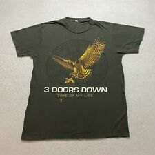 3 Doors Down Time Of My Life 2012 Tour T-Shirt Size M Gray Double Sided Mens