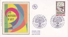 Enveloppe maximum 1er jour FDC Soie 1978 Les métiers d'Art