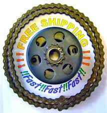 "Mini Bike Centrifugal Clutch W/Set Screw 3/4"" bore,12 Tooth 4' #35 Chain & link"