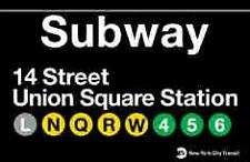 Union Square  New York City Subway Station Sign Metal