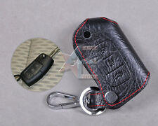 Genuine Leather Remote Key Chain Holder Case Cover FOR FORD FOCUS FIESTA MONDEO