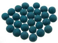 50 Perline Palle Di Feltro Naturale Ø=2.1 CM Nepal Blu BO2