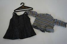 American Girl Pleasant Company School Jumper Dress & Top 1996 Retired Gray Wool