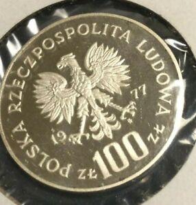 1977 Poland Silver 100 Zlotych Proof** Wawel Royal Castle