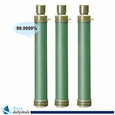 3pcs 99.99% Water Purification Filter Straw Camping Outdoor Gear Easy Use