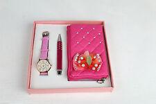 Girls Watch ,Soft Small Purse & pen pink Gift Set For Girls