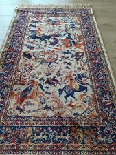 Vintage Prayer Hand Made Silk Rug