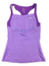Nike Dri-Fit Size Small Womens Purple White Built-In Bra Tank Top Shirt
