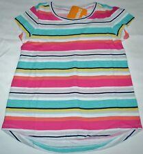 Gymboree Mix N Match Pink Blue Peach Multi Striped Top Shirt M 7 8 Kid Girls NWT