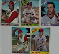 1966 Vintage Topps Baseball Cards Lot of 10 Different ones Fine/VF condition!