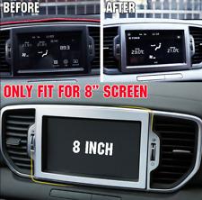 For Kia Sportage 2017-2018 ABS Chrome GPS Navi 8 Inch Screen Dash Cover