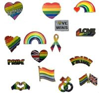LGBT Enamel Lapel Pin Badges Gay Pride Charity Enamel Brooches