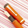 Vintage PARKER DUOFOLD SENIOR RED LACQUER Lucky Curve Flat-Top GOLD Fountain Pen