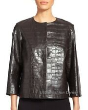🌸New#  MAX MARA Brown Calf LEATHER Jacket size USA 4_ I 38_ D 34_ GB 26_ F 36