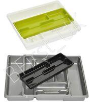 Plastic Adjustable Expanding Drawer Organiser Cutlery Utensil Tray Storage Rack