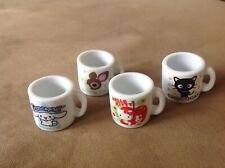 Hello Kitty Chococat Deery Lou Cinnamoroll Mini Porcelain Mugs Sanrio Japan 4 Pc