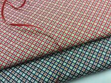 Cotton Poplin Fabric - Small Check