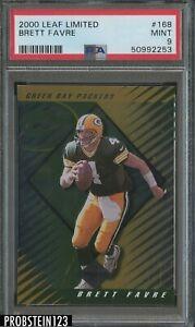 2000 Leaf Limited #168 Brett Favre Green Bay Packers HOF PSA 9 MINT