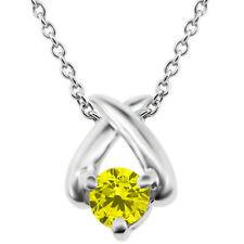 White Gold SI1 0.25 - 0.32 Fine Diamond Necklaces & Pendants