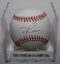 Terry Francona Signed Autographed 04 World Series ROMLB Baseball Red Sox Indians