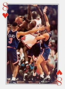1990'S MICHAEL JORDAN 8 OF HEARTS MICHAEL IN THE SQUEEZE NBA POKER GAME CARD