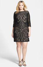 Julia Jordan Lace Illusion Sheath Dress ( Size 18W)