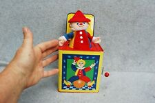 Schylling Tin Metal Jack-in-the-Box Clown Jester Toy 2007 Pop Goes Weasel Song