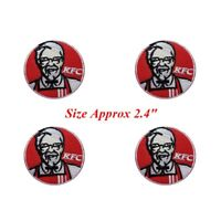 4 pcs Logo KFC Patch Embroidered Iron or Sew on Coat/Jacket/bag/hat/Jeans