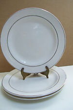 """Set Of 3 Totally Today Gold Banded 7.5"""" White Bread Side Plates Made In China"""