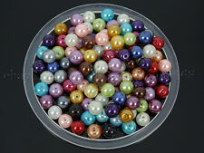 100Pcs Czech Glass Pearl Round Ball Loose Spacer Beads 3mm 4mm 6mm 8mm 10mm 12mm