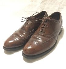 Dress Shoe Size 11 Wing Tip Oxfords Brown Leather Neolite